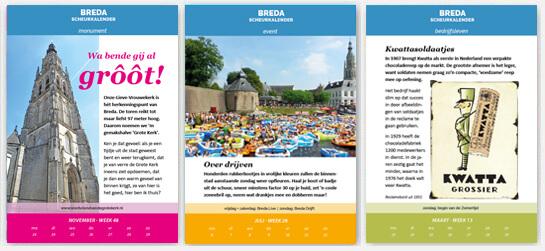 Scheurkalender Breda 2020 voorbeeldpagina's