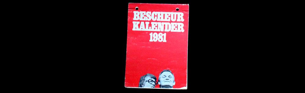 Bescheurkalender Van Kooten & De Bie 1981 cover