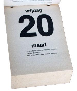 Pagina uit Koot en Bie scheurkalender