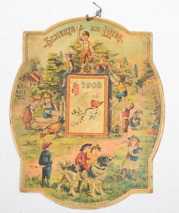 scheurkalender op schild kalenderschild
